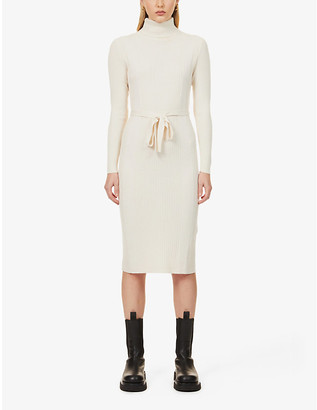 Sessun Roll-neck wool-blend midi dress