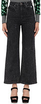 Marc Jacobs Women's Acid-Washed Wide-Leg Jeans-BLACK
