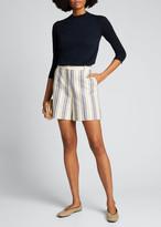 Loro Piana 3/4-Sleeve Featherweight Cashmere Sweater