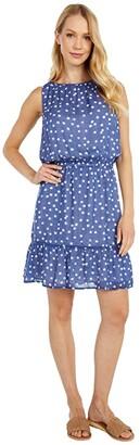Bella Dahl Shirred Halter Dress (Navy) Women's Dress
