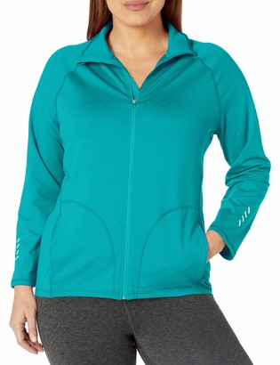 Just My Size Women's Plus-Size Active Full-Zip Mock Neck Jacket