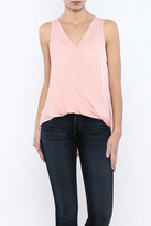 Bacio Sleeveless Wrap Front Top