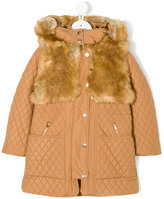 Chloé Kids faux-fur lined quilted coat