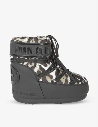 Goldbergh x Moon Boot camo-print woven ski boots
