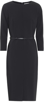 Max Mara Liriche belted stretch-wool dress