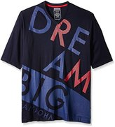 Sean John Men's Big and Tall Short Sleeve Over the Top T-Shirt