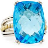 Lagos Prism Blue Topaz Cocktail Ring, Size 7
