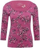 M&Co Floral plait neck top