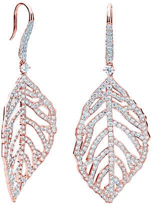 LeVian Suzy Diamonds Suzy 18K Rose Gold 3.05 Ct. Tw. Diamond Drop Feather Earrings