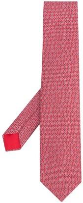 Hermes 2010s Pre-Owned Binary Print Tie