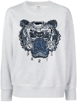 Kenzo Beaded Signature Tiger Head Sweatshirt