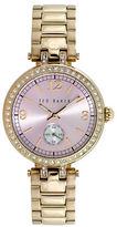 Ted Baker Ladies Smart Casual Glitz Goldtone Bracelet Watch