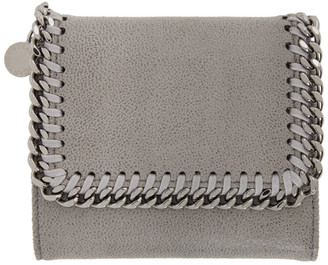 Stella McCartney Grey Small Falabella Flap Wallet