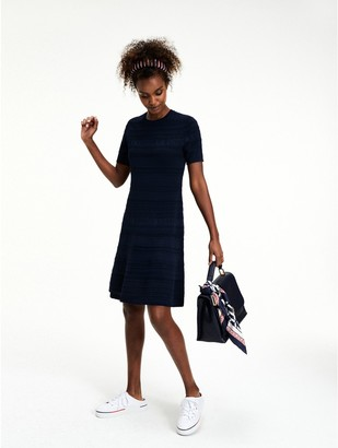 Tommy Hilfiger Fit And Flare Pointelle Dress