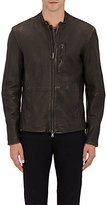 John Varvatos Men's Channel-Stitched Moto Jacket