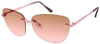True Religion 54mm Geometric Rimless Sunglasses