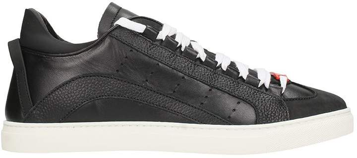 DSQUARED2 Black Leather Sneakers