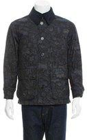 Burberry Floral Corduroy-Trimmed Jacket