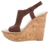 Elizabeth and James Suede Wedge Sandals