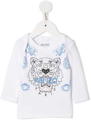 Kenzo logo tiger print top