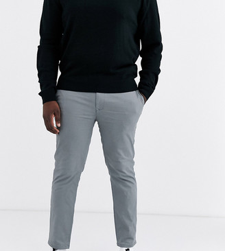 Burton Menswear Big & Tall skinny chinos in grey