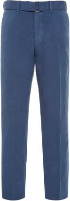 Officine Generale Paul Belted Cotton and Linen-Blend Pants