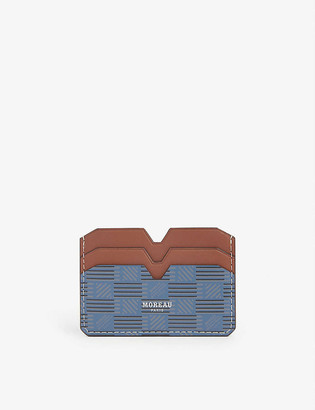 Moreau Paris Logo-print leather card holder
