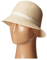 Lauren Ralph Lauren Cloche Hat w/ Leather Belt Caps