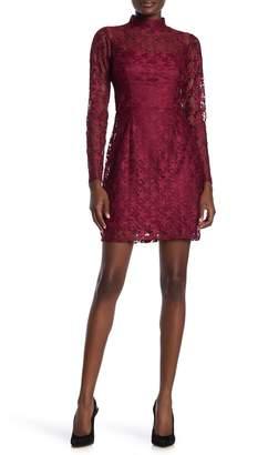 Betsey Johnson Illusion Mock Neck Star Lace Dress