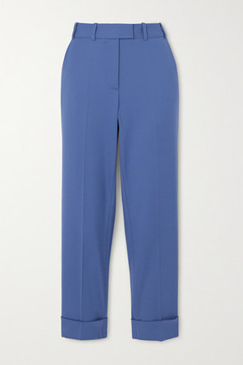 Cefinn Clement Cropped Twill Slim-fit Pants - Light blue