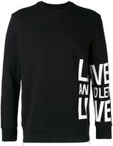 Neil Barrett slogan printed sweatshirt - men - Cotton/Spandex/Elastane/Viscose - M