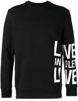 Neil Barrett slogan printed sweatshirt
