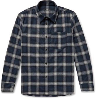 A.P.C. Trek Checked Wool-Blend Flannel Shirt