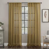 Archaeo Embroidered Border Sheer Rod-Pocket Single Curtain Panel