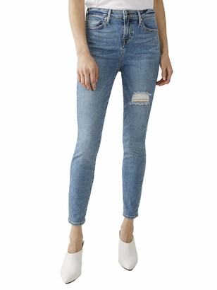 True Religion Women's Halle Ankle High Rise Skinny Fit Jean