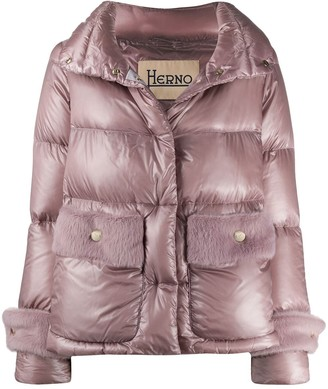 Herno Faux-Fur Trimmed Down-Feather Jacket