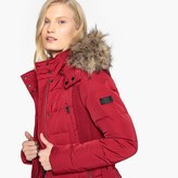 Pepe Jeans Short Padded Jacket with Faux Fur Hood and Pockets