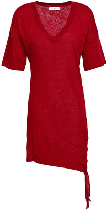 IRO Keraba Lace-up Slub Linen-jersey Mini Dress