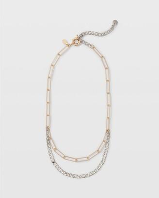 Club Monaco Multi Chain Necklace