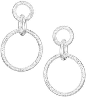 Jennifer Zeuner Jewelry Wes Sterling Silver Circular Drop Earrings