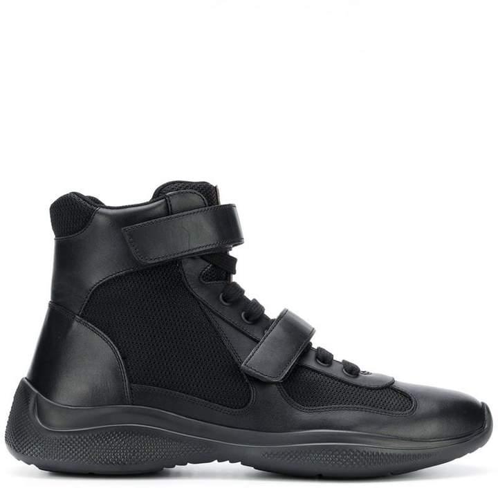 Prada laceless almond toe boots