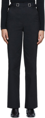 Proenza Schouler Black Twill Belted Trousers