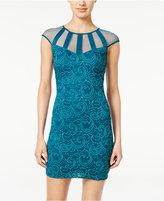 Teeze Me Juniors' Illusion Lace Bodycon Dress