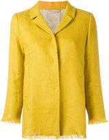 'S Max Mara - raw-hem blazer - women - Linen/Flax/Cotton/Spandex/Elastane/Polyamide - 46