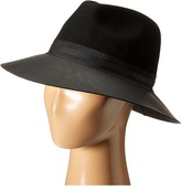 Vince Camuto Faux Leather Brimmed Panama