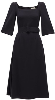 Goat Jubilee Wool-crepe Dress - Womens - Navy