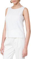 Akris Punto Sleeveless Round-Neck Shell, Beige