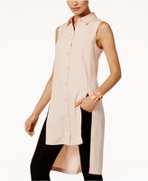 Alfani PRIMA Split High-Low Tunic Blouse, Only at Macy's