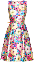 Oscar de la Renta Dhalia-print silk and cotton-blend dress