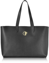 Versace Black Grainy Leather Large Tote Bag